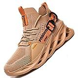 AARDIMI Zapatillas de Deporte Hombres Running Zapatos para Correr Gimnasio Sneakers Deportivas Antideslizantes Correr Sneakers 36-46 (Caqui, Numeric_45)