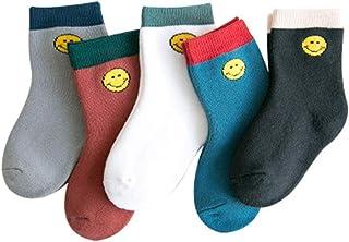 Bocotoer, Calcetines térmicos supersuaves para cama, calcetines informales, calcetines térmicos para bebés, niñas, niños, 5 pares