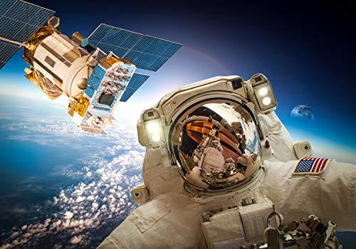 wandmotiv24 Fototapete Astronaut Weltall Weltraum, M 250 x 175 cm - 5 Teile, Fototapeten, Wandbild, Motivtapeten, Vlies-Tapeten, Erde, Universum, Planet M0780