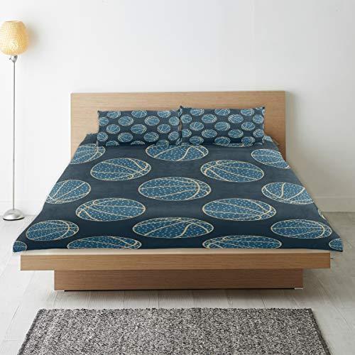 JOSENI bedding-Duvet Cover Set,Arty Basketball,Microfibre 135x200 with 2 Pillowcase 50x80,Single