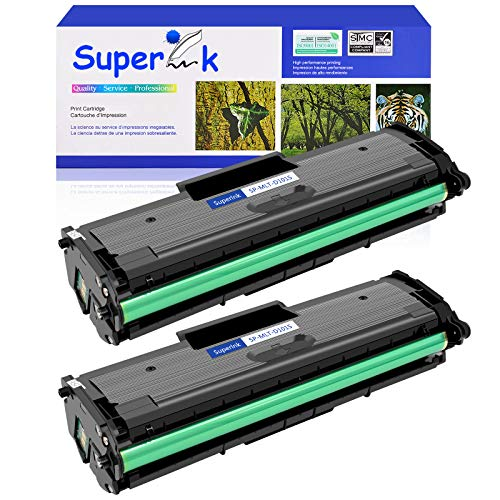 SuperInk Compatible Toner Cartridge Replacement for Samsung 101 MLT-D101S Compatible with ML-2165W SCX-3400FW SP-760P SCX-3405FW SCX-3400F Printer (2 Pack)