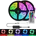 Led Strip Lights,Led Lights for Bedroom 32.8ft,RGB LED Strip Lights,Color Changing Led Strip Lights with 44 Keys IR Remote and 12V Power Supply-Waterproof