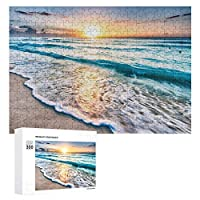 Oceans Sunsets Waves-1 300ピースのパズル木製パズル大人の贈り物子供の誕生日プレゼント
