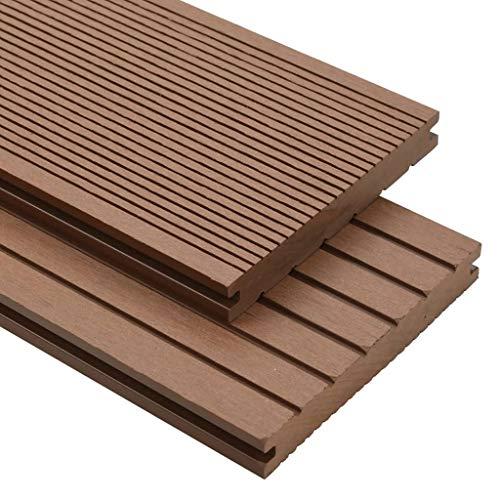 honglianghongshang Materiales de construcción Suelos y moqueta, WPC, pavimentos macizos con Accesorios, 10 m², 2,2 m, Color marrón Claro