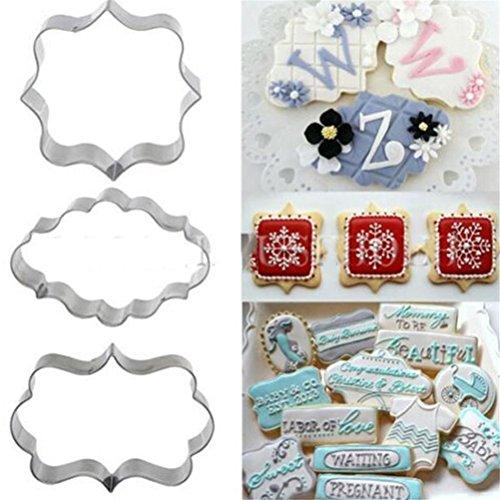 Affe Lot de 3 emporte-pièces pour biscuits et pâtisseries