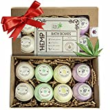 Hemp Oil Bath Bombs - Relaxing Bubble Bath Bombs Made from Organic Hemp Seeds & Essential Oils - Great Gift Set for Women & Men by Alter Native - Handmade in USA - 8 Pack