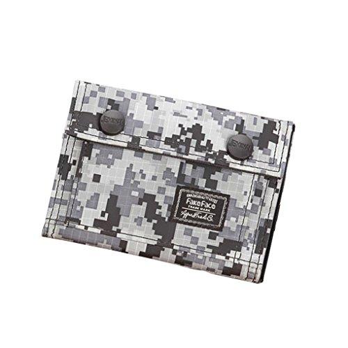 Unisex Camouflage Geldbörse Canvas Geldtasche Geldbeutel mit Umschlag Handtasche Clutch für Damen Herren Jungen Mädchen