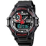 Mens Digital Watch Outdoor Sports Watch 50mm Waterproof Chronograph Military Shock Watch for Men