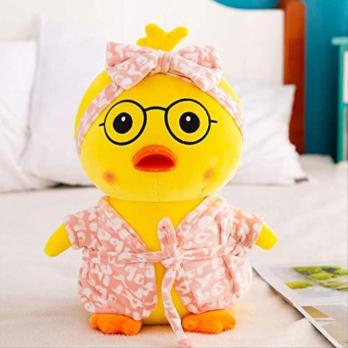 Hyncdz Ente Lingua Plüschtiere Bouric Säure Form Ente Weichen Riemen Bademantel Puppe Plüsch Puppe Puppe 40Cm Rosa Pyjama Ente