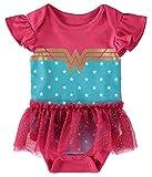 DC Comics Wonder Woman Newborn Infant Baby Girls' Creeper Onesie Bodysuit Costume Tutu Dress Grey/Black/Blue 6-9 Months
