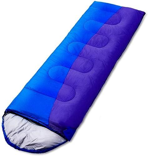 XHCP Sac de couchagePolyester Adulte épais Camping Camping Voyage résistant à l'humidité en Duvet de Coton (Capacité  D, Couleur  Bleu)