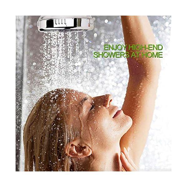 Sooair Alcachofa de Ducha, 3 Modos Mano La Cabeza de Ducha, Iónico cloro Filtración con Alta Presiòn Ahorro de Agua de…