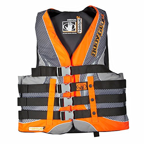 Body Glove Wetsuit Co Torque Type II Nylon US Coast Guard Approved PFD Life Jacket, Orange, X-Large