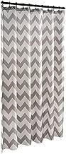 allen+roth Gray Chevron Fabric Shower Curtain #0753101