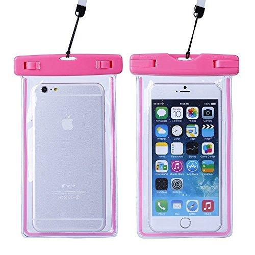 NOV@GO - Funda Impermeable Transparente para iPhone 7, iPhone 7 Plus, iPhone 6, 6 Plus, Samsung Galaxy S6, Samsung Note 4/3/2, LG G3/G2/Xperia Z3/Z2, HTC One M9
