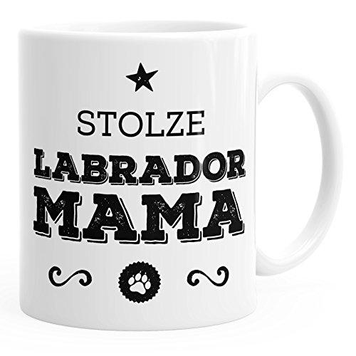 MoonWorks Kaffee-Tasse Stolze Labrador Mama Labrador Besitzerin Hundebesitzerin weiß Unisize
