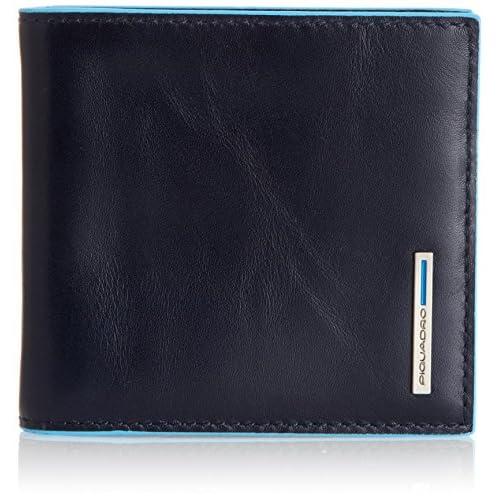 Piquadro PU1666B2/BLU2 Blue Square Portafogli, Blu, 10 cm