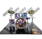 Mini Drum Kit Iron Maiden Fear of The Dark álbum tribute miniature rock 25 cm modelo escala 1:4 collectible box set batería maqueta de colección