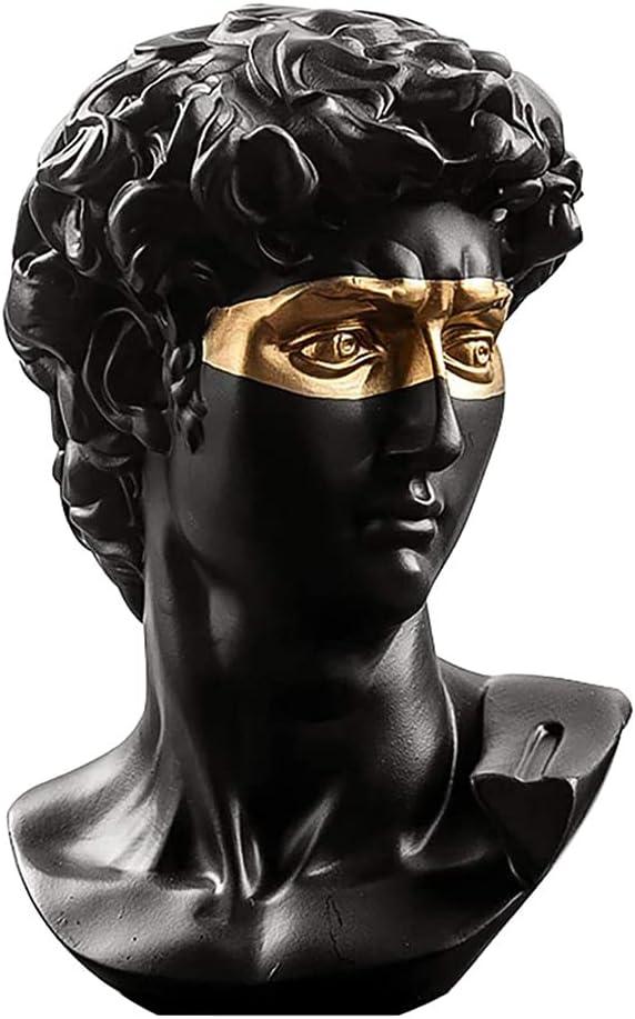 "Michelangelo's David Bust Statue, 5.9"" David Busts Statue, Resin David Bust Resin Statue, Classic Greek Statues for Home Decor, Office Decor, Bookshelf Decor, Gift"