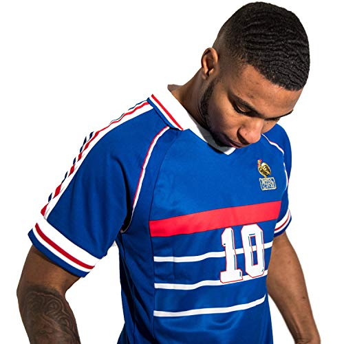 Direct Sport – Camiseta retro de la selección francesa de Francia de fútbol de 1998 – réplica (S)