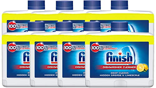 Finish Dishwasher Cleaner LEMON, Pack of 8