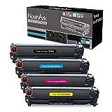 NoahArk Compatible con HP 125A CB540A CB541A CB542A CB543A Cartucho de tóner para HP Color LaserJet CM1312 CM1312nf CM1312nfi CP1510 CP1514n CP1515 CP1515n CP1518 CP1518ni CP1210 CP1215 CP1215n
