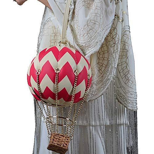 Lxc Creative-Heißluft-Ballon-Leder-Frauen Handtasche Mode-Trend Plaid Kette Umhängetasche Magnetisierten Buckle Messenger Bag edel