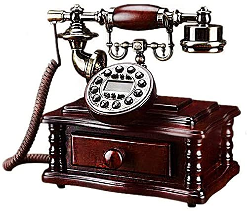 Teléfonos decorativos antiguos Teléfonos caseros Teléfono Antiguo Teléfono Antiguo Moda Antigua Moda con Campana Classic Metal, Teléfono con cable con altavoz y Función de Relación para Hogar y Decora
