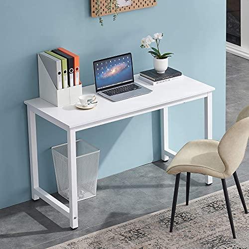 HJhomeheart Computertisch Schreibtisch Gaming PC Tisch Büro Schreibtisch für Schreiben, Lernen, Arbeiten Bürotisch Arbeitstisch Computer Schreibtisch 120 x 60 x 74 cm, Modern Gaming Computertisch weiß