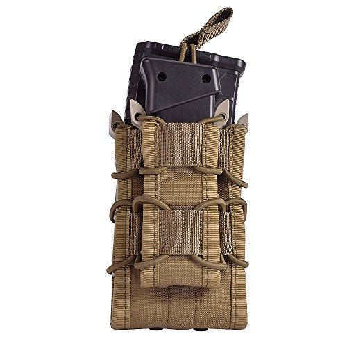 PATROUILLE MILITAIRE AK47 DOUBLE MAGAZINE AMMO POUCH MOLLE SANGLE AIRSOFT COYOTE
