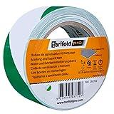 Tarifold 1 Cinta Adhesiva Suelo, Señalización, Seguridad, color Verde y Blanco-Rollo 50mm x 33m, 50 mm x 33 M