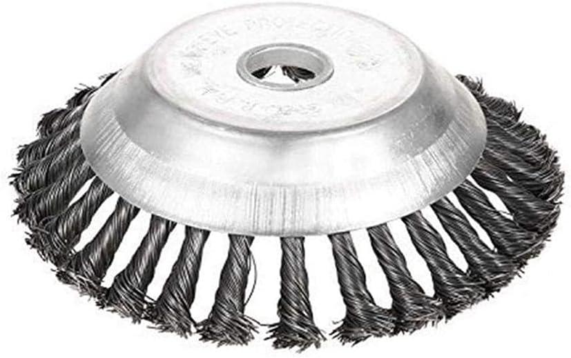 Cepillo Desbrozadora de 150 x 25,4 mm, 6 Pulgadas Afiladores para Cortacéspedes Cortador Cabeza, Herramienta de Deshierbe de Metal para Desbrozadora