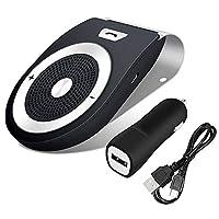 ACHICOO Bluetooth スピーカー 車 サンバイザー ポータブル プレーヤー カー 充電器 車 車載 ハンズフリー プレーヤー 高音質 スマホ/タブレット/pc対応