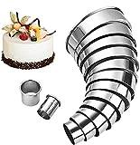 Cortapastas Redondo, Cortadores Galletas de 14, BESTZY Cortadores de pastelería circulares de calidad - Anillo de acero inoxidable para moldes de galletas para mousse
