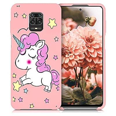 ZhuoFan Funda Xiaomi Redmi Note 9 Pro, Cárcasa Silicona Rosa con Dibujos Diseño Suave Gel TPU Antigolpes de Protector Piel Case Cover Fundas para Movil Redmi Note 9 Pro / 9S, Unicornio 01