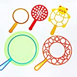 WOWOWO 6PCS / Set Jumbo Colorful Bubble Wand Toy Set para niños Verano al Aire Libre