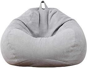 YTYC بين باج غطاء كرسي مع حشو، غطاء سرير ناعم مريح لراحة كرسي ألعاب دافئ بين باج (رمادي فاتح، 3.1 قدم)