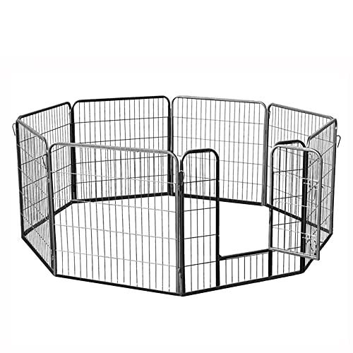 zooprinz erstklassiges Freilaufgehege (Hundezaun) Dog Run - ideal für Welpen und große Hunde -Besonders stabiles Gitter - perfekt für drinnen und draußen - 4 Modelle zur Wahl, 80 cm