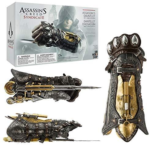 Mopoq Assassin's Creed Shuriken Syndicate Cosplay 1: 1 Arma PROP SHURIKEN MUCHACHANDO A MARCHADURA SHURIKEN Puede ser expulsado