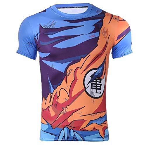 Goku Battle Armor Cosplay Kompressions-T-Shirt Muskel-Shirt (XL-Größe)