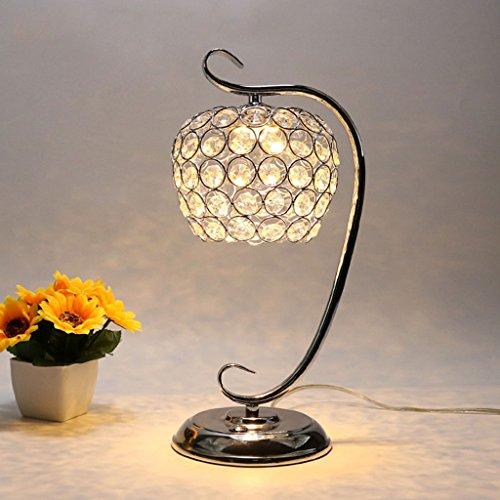 Lámparas de escritorio Lámparas de mesa y mesilla Creativo LED lámpara de mesa de cristal, cuerpo de la lámpara de metal, estudio moderno simple mesa de sala de estar sofá mesa de centro mesa de noche