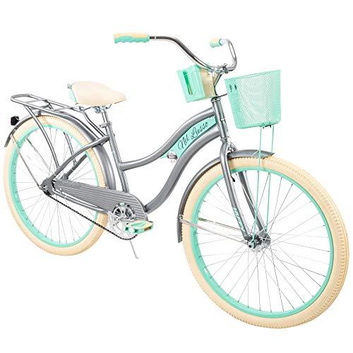 """Huffy, Nel Lusso Classic Cruiser Bike Frame, Women's, Gray, 26"""""""