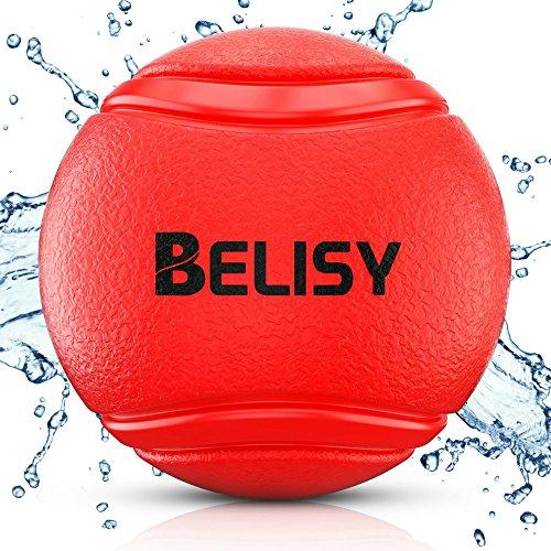 BELISY Hundespielball für große & kleine Hunde aus Naturgummi I Rot I 5cm