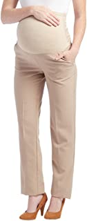 Times Two Maternity Women's Straight Leg Dress Pants