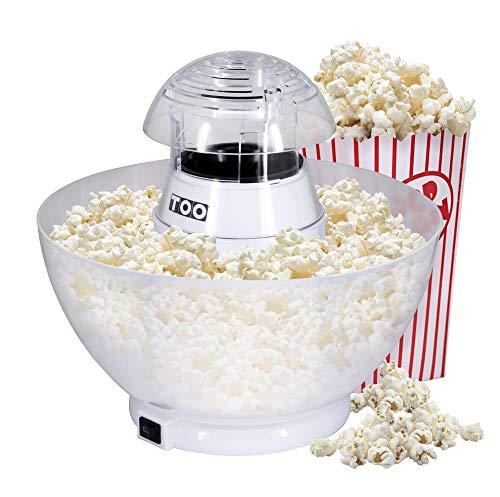 TOO PM-103 Popcornmaschine, Heißluft-Popcorn-Maschine mit Auffangschale, Popcorn Maker, für 50-60g Mais, 1200W