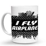 Makoroni - I FLY AIRPLANES 6 oz Ceramic Espresso Shot Mug/Cup Design#72