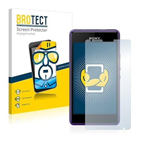 BROTECT Schutzfolie kompatibel mit Sony Xperia E1 D2004 / D2005 (2 Stück) klare Bildschirmschutz-Folie