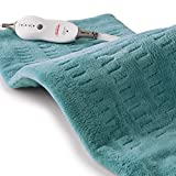Sunbeam, Heating Pad for Pain Relief XL King Size SoftTouch 4 Heat Settings with Auto-off 12 Inch x 24 Inch, Teal,