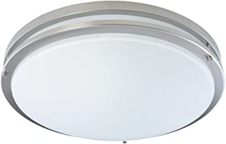Good Earth Lighting Jordan 17-inch LED Flush Mount Light - Brushed Nickel