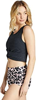 Rockwear Activewear Women's Balance Cropped Twist Front Tank from Size 4-18 for Singlets Tops
